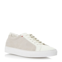 Hugo Boss Fusteno Lace Up Casual Trainers Off White