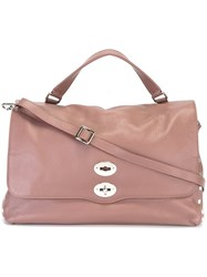 Zanellato Large Satchel Pink And Purple