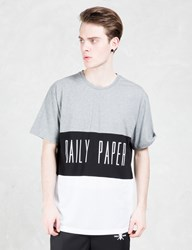 Daily Paper Black Script Logo Mesh Panel T Shirt
