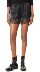 Alexander Wang Bloomer Shorts With Lace Hem Black