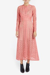 Elie Saab Women S Midi Lace Dress Boutique1 Pink