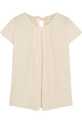Goat Wagner Pleated Silk Crepe De Chine Blouse