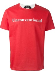 No21 Contrast Back T Shirt Red