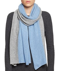 Bloomingdale's C By Cashmere Angelina Two Tone Scarf Gray Sky