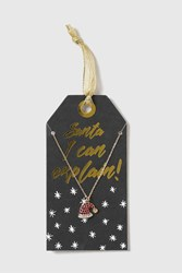 Topshop Christmas Santa Necklace Gold