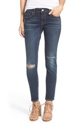 Vigoss Women's 'Chelsea' Destroyed Skinny Jeans Dark Wash