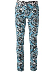Versace 'Baroque Ice' Jeans Blue