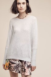 Anthropologie Tauria Cashmere Pullover Light Grey