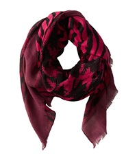 San Diego Hat Company Bss1402 Oversized Houndstooth Pattern Fabric Scarf Wine Scarves Burgundy