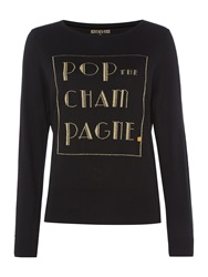 Biba Pop The Champagne Crew Neck Jumper Black