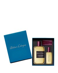 Engravable Gold Leather Ecrin Absolue 200 Ml With Complimentary 30Ml Atelier Cologne