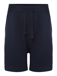 Emporio Armani Men's Cotton Drawstring Loungewear Shorts Navy
