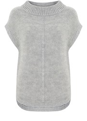 Mint Velvet Silver Grey Side Zip Tabard Grey