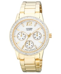 Citizen Women's Quartz Gold Tone Stainless Steel Bracelet Watch 35Mm Ed8092 58D Women's Shoes