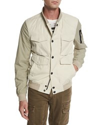 Belstaff Ashvale Nylon Cotton Bicolor Jacket Natural White