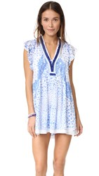 Poupette St Barth Mini Sasha Dress White Blue Banana