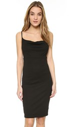 Three Dots Dalia Cowl Neck Dress Black
