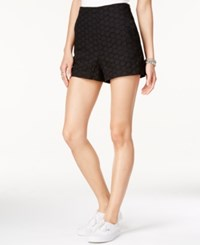 Sanctuary Olivia Eyelet Shorts Black