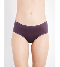 Wolford Sheer Touch Jersey Briefs Graphite