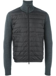 Moncler Knitted Sleeve Jacket Grey