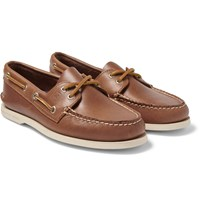Sperry Authentic Original Two Eye Leather Boat Shoes Tan