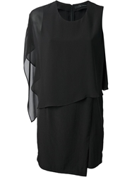 Kai Aakmann Asymmetric Sleeve Dress Black