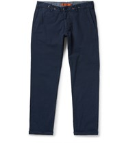 Barena Slim Fit Cotton Blend Trousers Blue