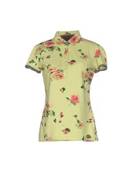 Cooperativa Pescatori Posillipo Topwear Polo Shirts Women Acid Green