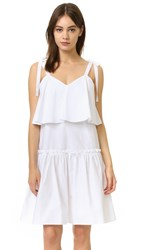 English Factory Woven Dress Off White