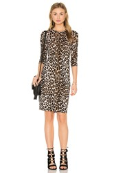 Equipment Marla Cheetah Print Sweater Dress Beige