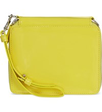Marques Almeida Leather Wallet With Strap Yellow