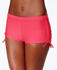 Hula Honey Cinch Tie Boy Short Swim Bottoms Women's Swimsuit Watermelon