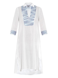 Thierry Colson Angelica Embroidered Cotton Shirt Dress
