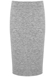 Mint Velvet Mid Grey Knitted Tube Skirt Grey