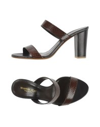 Martin Clay Footwear Sandals Women Dark Brown