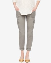 Motherhood Maternity Cropped Cargo Pants Cool Taupe