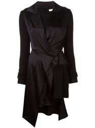 Wunderkind Peaked Lapel Draped Dress Black