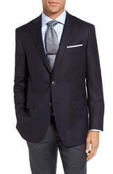 Hart Schaffner Marx Men's Big And Tall 'New York' Classic Fit Wool Blend Blazer Navy