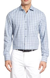 Men's Bobby Jones 'Clifford' Regular Fit Long Sleeve Plaid Sport Shirt Light Blue