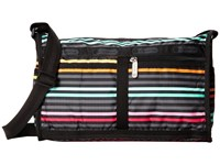 Le Sport Sac Deluxe Shoulder Satchel Lestripe Black Cross Body Handbags Multi