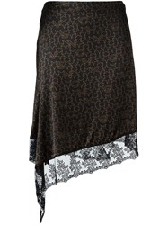 Givenchy Lace Panel Skirt Black