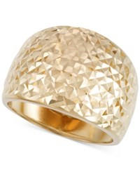 Macy's Textured Statement Ring In 14K Gold