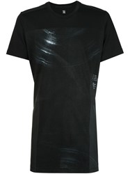Julius Faded Circle Print T Shirt Black