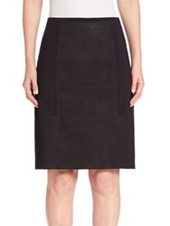 Elie Tahari Leary Leather Paneled Skirt Black