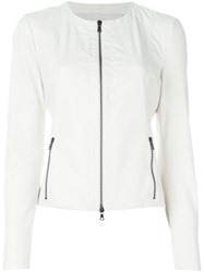 Drome Fitted Leather Jacket White
