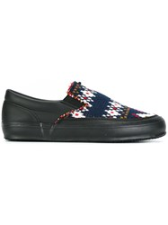 Comme Des Garcons Shirt Knitted Slip On Sneakers Black