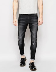 Cheap Monday Jeans Mid Spray Extreme Superstretch Skinny Fit Grey Vision Repair Grey