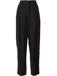 Dolce And Gabbana Vintage High Waisted Trousers Black