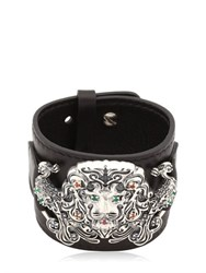 Gfase Lion's Paradise Leather Cuff Bracelet
