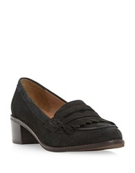 Dune Gwyneth Leather Penny Loafers Black